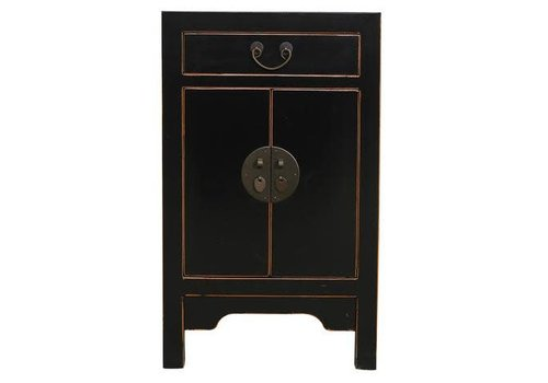 Fine Asianliving Fine Asianliving Chinese Bedside Table Cabinet Black 42x35x70cm
