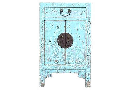 Fine Asianliving Chinees Kastje Vintage Blue 42x35x70cm