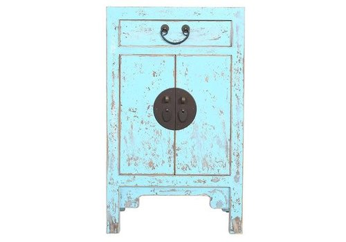 Fine Asianliving Chinese Cupboard Vintage Blue