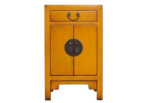 Fine Asianliving Fine Asianliving Chinese Cupboard Ocher Yellow Ochre