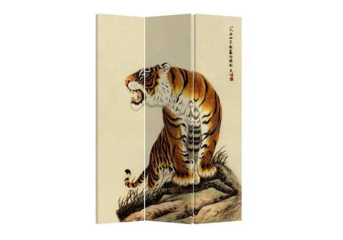 Fine Asianliving Fine Asianliving Chinese Oriental Room Divider Folding Privacy Screen 3 Panel TigerL120xH180cm