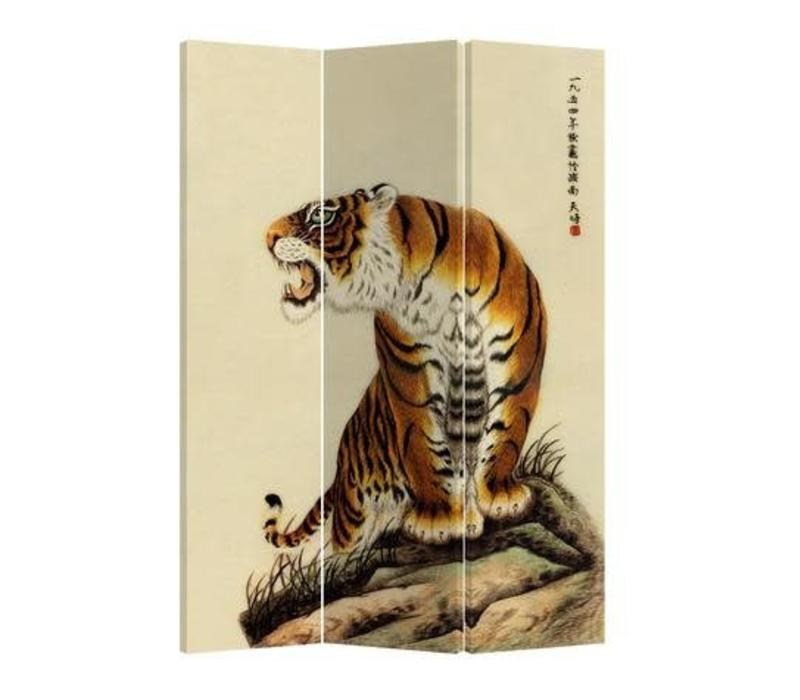 Fine Asianliving Chinese Oriental Room Divider Folding Privacy Screen 3 Panel TigerL120xH180cm