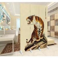 Fine Asianliving Chinees Kamerscherm Oosters Scheidingswand 3 panelen Chinese Tijger L120xH180cm