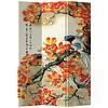 Fine Asianliving Chinees Kamerscherm 3 Panelen Oranje Bloesems met Vogel