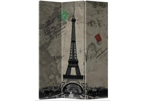 Fine Asianliving Fine Asianliving Room Divider Privacy Screen 3 Panel Retro Eiffeltower L120xH180cm