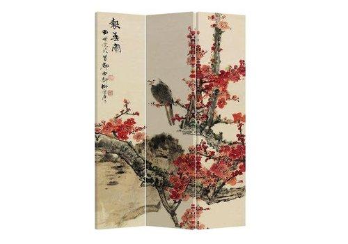 Fine Asianliving Fine Asianliving Kamerscherm Scheidingswand 3 panelen Arend Bloesems L120xH180cm