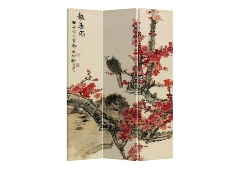 Fine Asianliving Fine Asianliving Room Divider Privacy Screen 3 Panel Blossoms and Eagle L120xH180cm