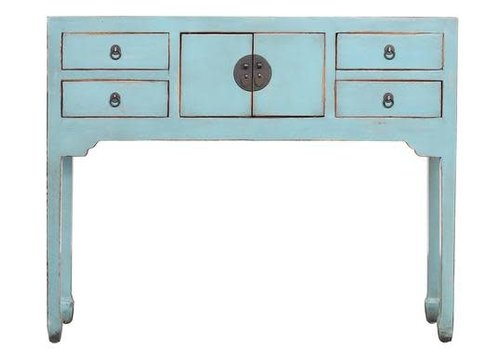 Fine Asianliving Fine Asianliving Chinese Console Table Hallway Table Sidetable Blue