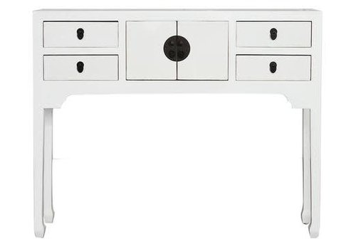 Fine Asianliving Fine Asianliving Chinese Console Table Hallway Table Sidetable L100xW26xH80cm White