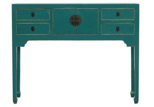 Fine Asianliving PREORDER Chinese Sidetable Teal