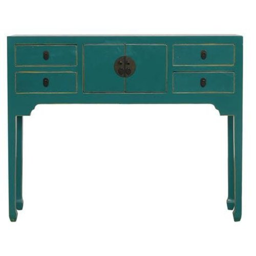 Fine Asianliving Chinese Sidetable Teal