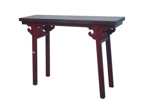 Fine Asianliving Chinese Sidetable Red with Hand-carved Details