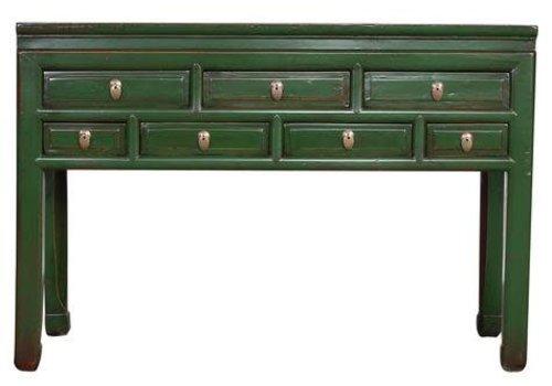 Fine Asianliving Oud Chinees Sidetable Vintage Groen