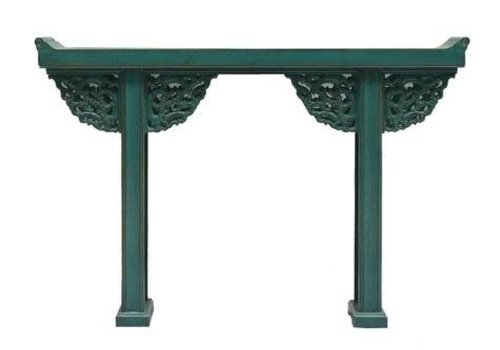 Fine Asianliving Chinese Sidetable Turquoise - Beijing China