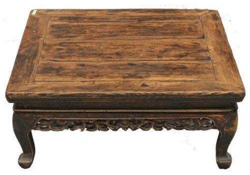 Fine Asianliving Table Basse Chinoise Antique Brun Clair - Shanxi Chine