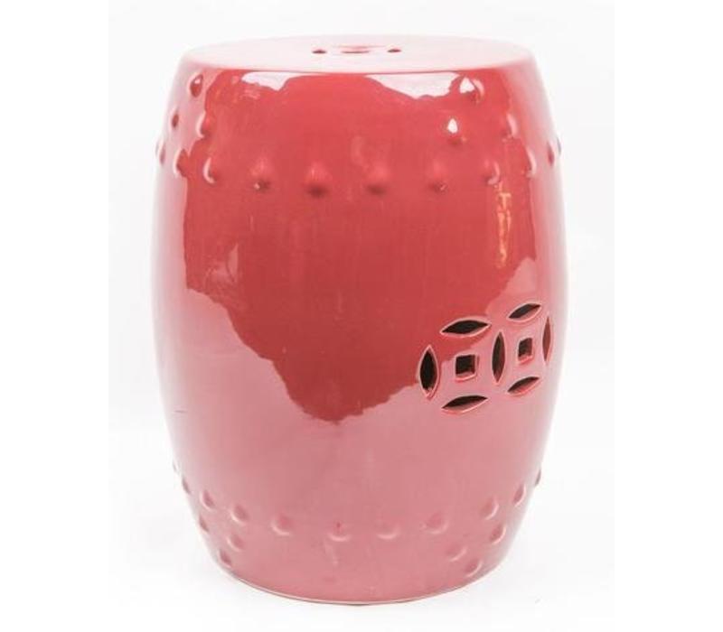 Fine Asianliving Céramique Tabouret De Jardin En Porcelaine De Style Asiatique Rouge