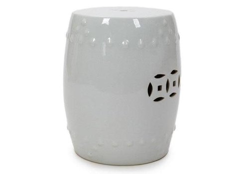 Fine Asianliving Fine Asianliving Chinese Stool Chair Porcelain White