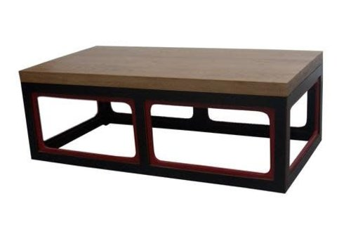 Fine Asianliving Fine Asianliving Chinese Coffee Table Solid Wood Rectangle Brown Black Red