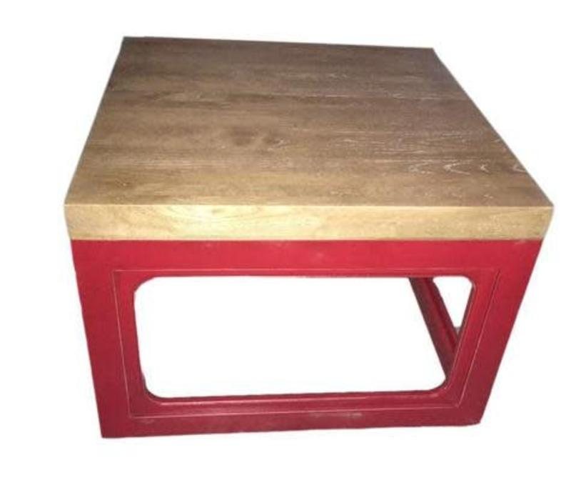 Fine Asianliving Cubic Chinese Coffee Table Solid Wood Red