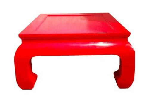 Fine Asianliving Fine Asianliving Chinese Coffee Table Red Solid Wood Small