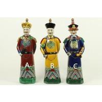 Chinese Emperor Porcelain Statue Handpainted Large Father - Lang Leven en Welzijn C