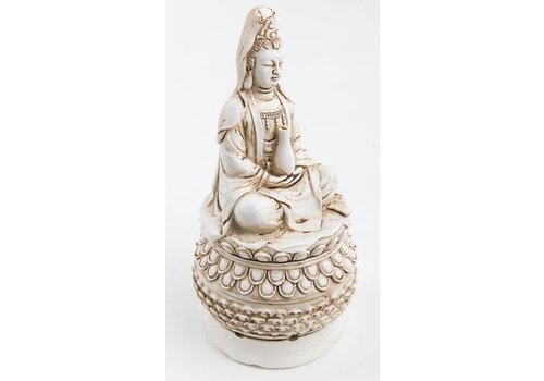Fine Asianliving Guanyin Wierookhouder Wit