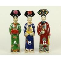 Chinese Keizerin Porselein Beelden Handmade Set/3