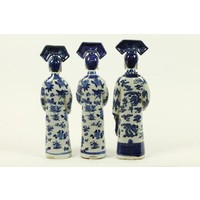 Chinese Empress Porcelain Figurine Three Concubines Qing Dynasty Statues Handmade Set/3