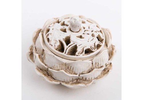 Fine Asianliving Incense Holder White Lotus