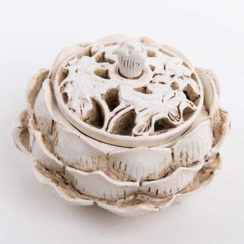 Incense Holder White Lotus