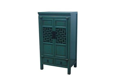 Fine Asianliving Fine Asianliving Chinese Kast 2 Deuren Blauw L57xB38xH105cm