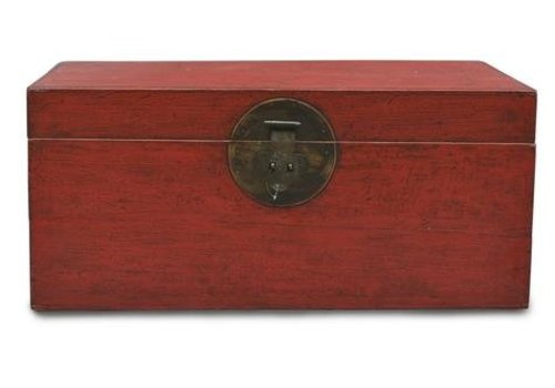 Fine Asianliving Fine Asianliving Antique Chinese Storage Box Red  - Beijing China