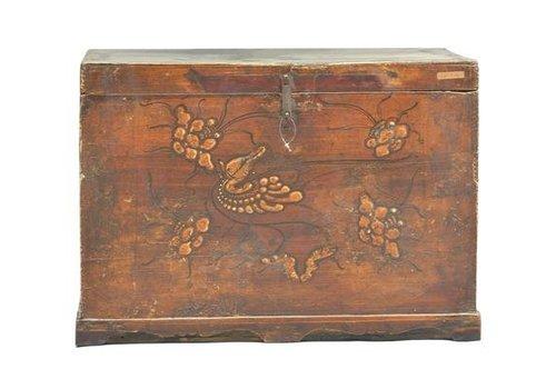 Fine Asianliving Oude Chinese Kist Handbeschilderd (1900-1915) - Shanxi China