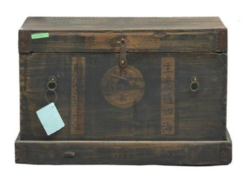 Fine Asianliving Fine Asianliving Antique Chinese Trunk White Schrift (1850-1900) - Shanxi China