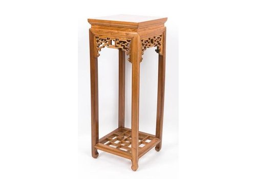 Fine Asianliving Chinese Plant Table Classic High Brown