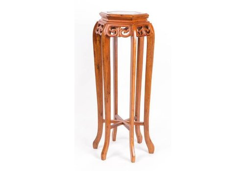 Fine Asianliving Chinese Plant Table High Round Brown