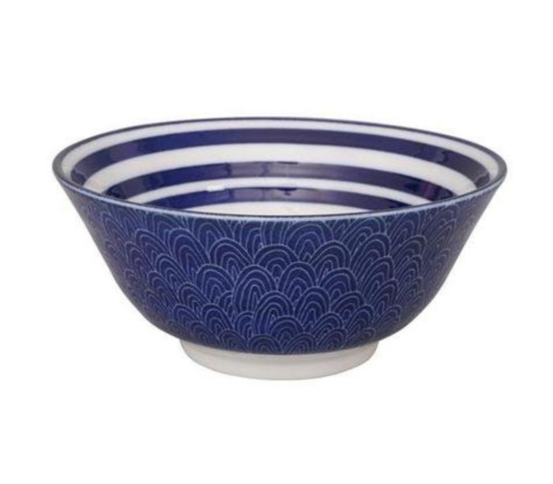 Blue de'Nimes Bowl 15.2x6.7cm Circles
