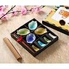 Fine Asianliving Chinees Servies 12-delig Giftset Glassy Kleur Vis Porselein