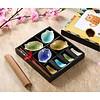 Fine Asianliving Chinese Tableware 12-delig Giftset Glassy Colour Vis Porcelain