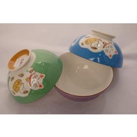 Japanese Tableware Lucky Cat Bowl Small Purple 12.5cm