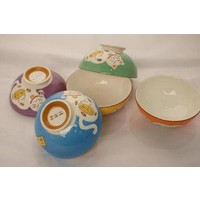 Japanese Tableware Lucky Cat Rice Bowl Blue 11cm