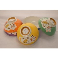 Japanese Tableware Lucky Cat Rice Bowl Yellow 11cm