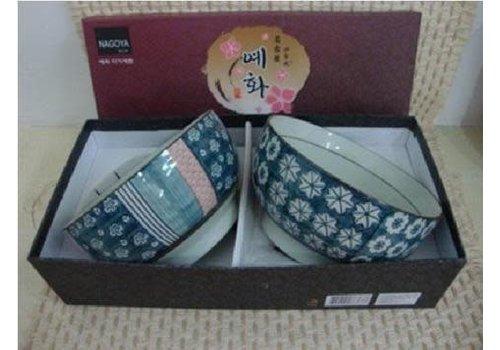 Fine Asianliving Koreaans Servies Giftbox Set/2 Kommen Porselein AD