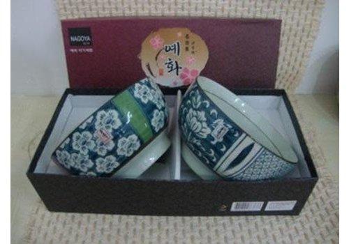 Fine Asianliving Korean Tableware Giftbox Set/2 Bowls Porcelain BE