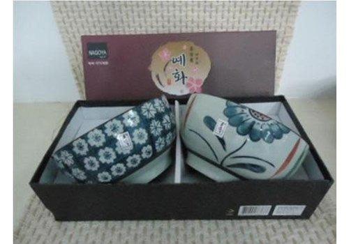 Fine Asianliving Korean Tableware Giftbox Set / 2 Bowls Porcelain CD