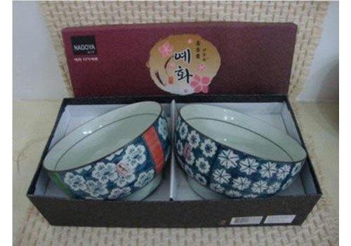 Fine Asianliving Korean Tableware Giftbox Set/2 Bowls Porcelain DE