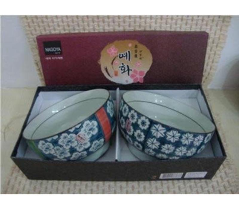Korean Tableware Giftbox Set/2 Bowls Porcelain DE
