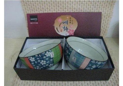 Fine Asianliving Korean Tableware Giftset 2 Bowls Porcelain AE