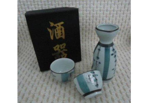 Fine Asianliving Japanse Sake Set 2 Kopjes Porselein Luxe Giftset