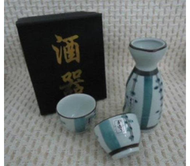 Japanse Sake Set 2 Kopjes Porselein Luxe Giftset